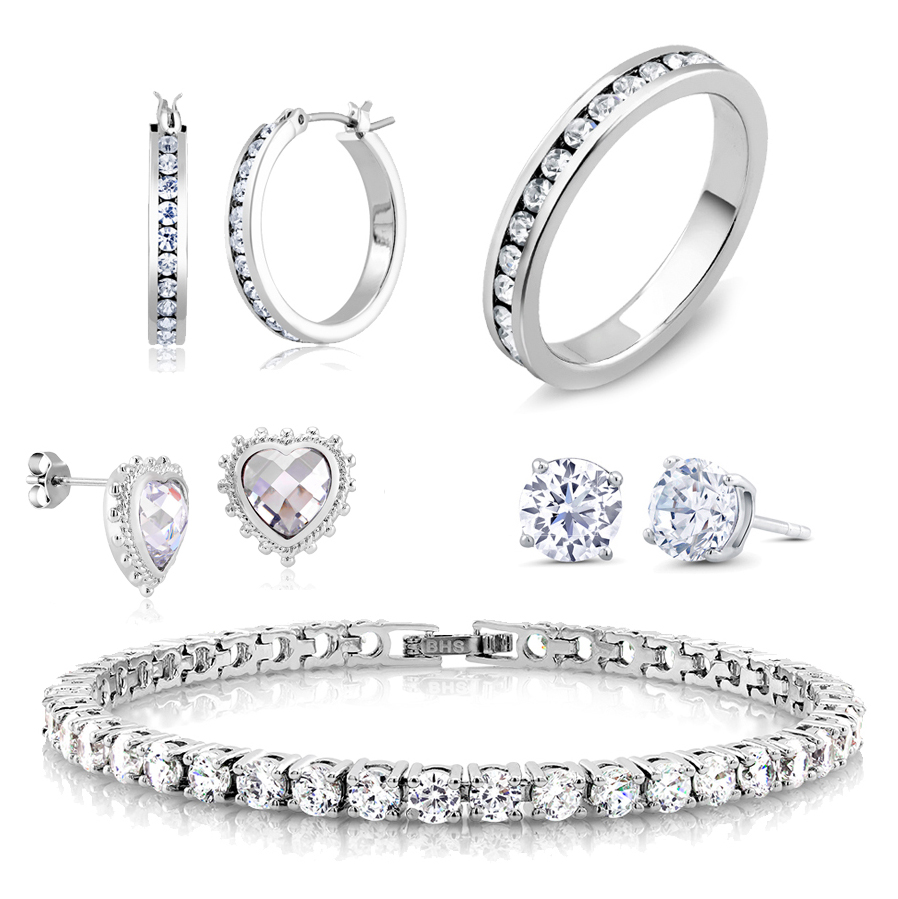 5 piece cubic zirconia best selling jewelry set tanga for Best selling jewelry on amazon
