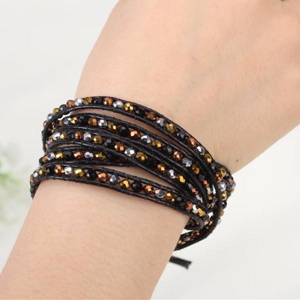 Earth Tone Bead Wrap Bracelet