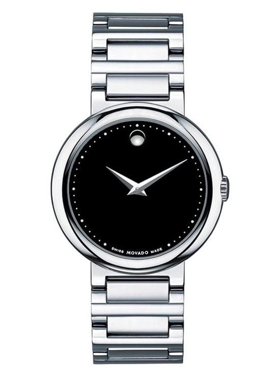 Movado Concerto Black Dial Stainless Steel Women s Watch 0606419