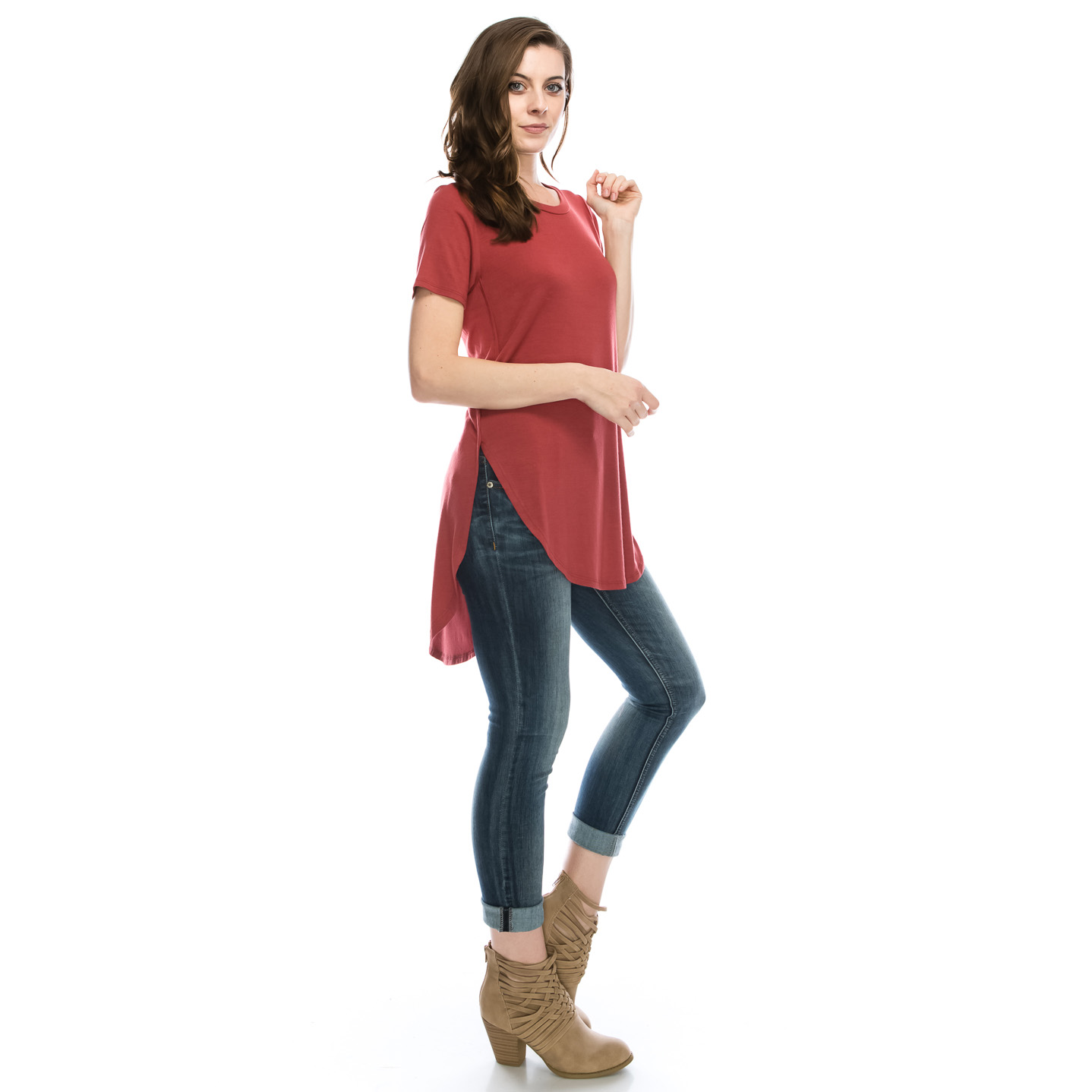 Women s High-Low Tunic Top (S-3X)