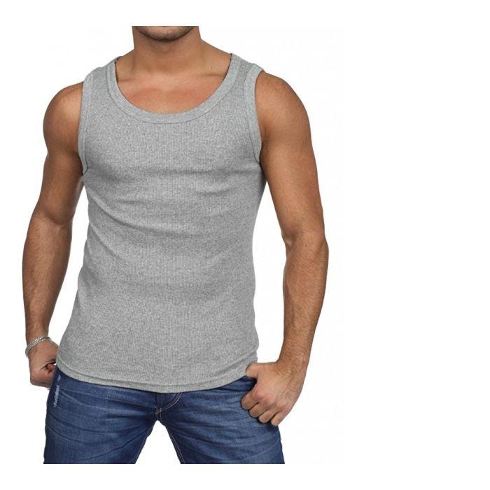 4-Pack Men s Cotton Grey A-Shirt Tank Top Muscle Shirts 5024712
