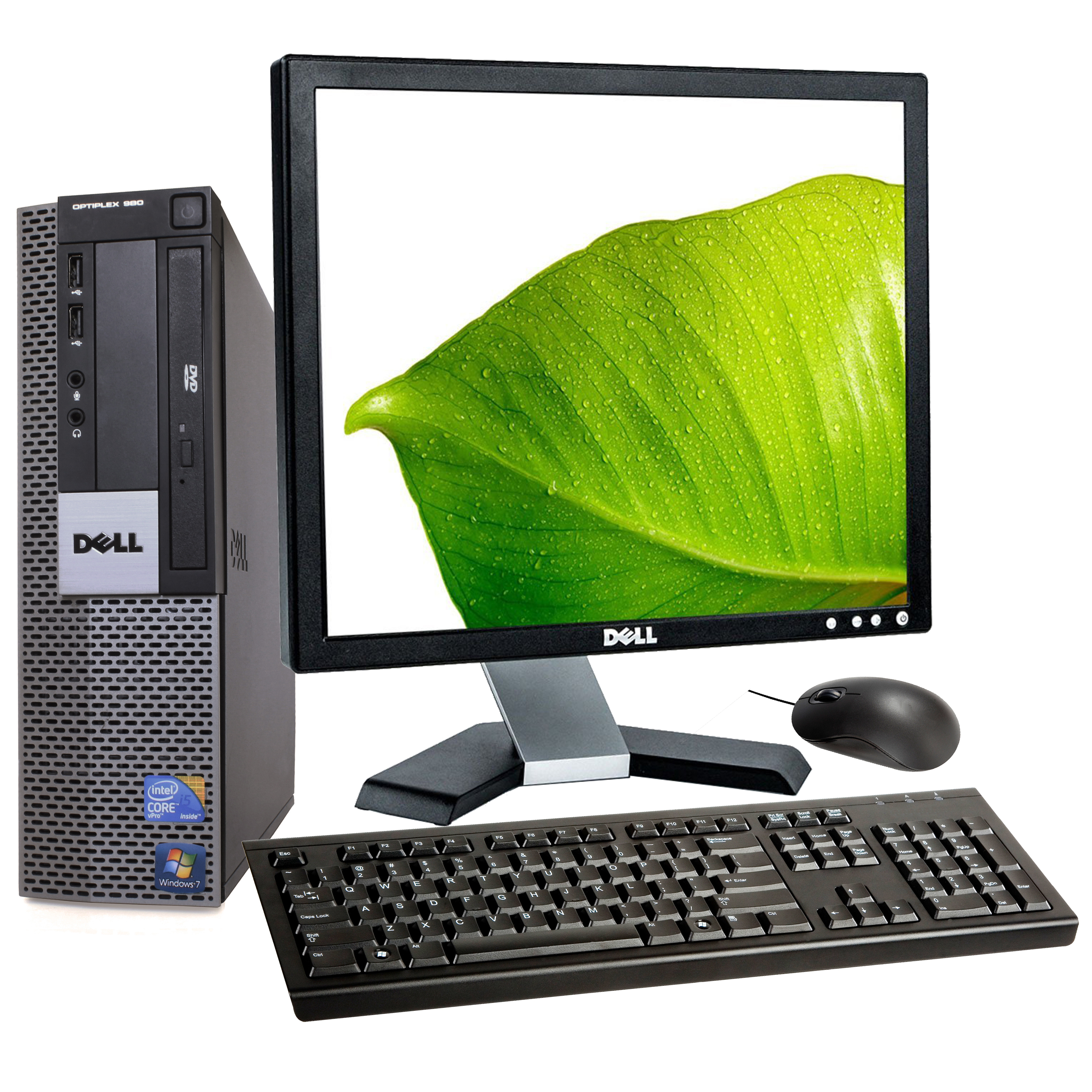 "Dell Optiplex 980 Desktop Bundle with 17"" Dell Monitor ..."