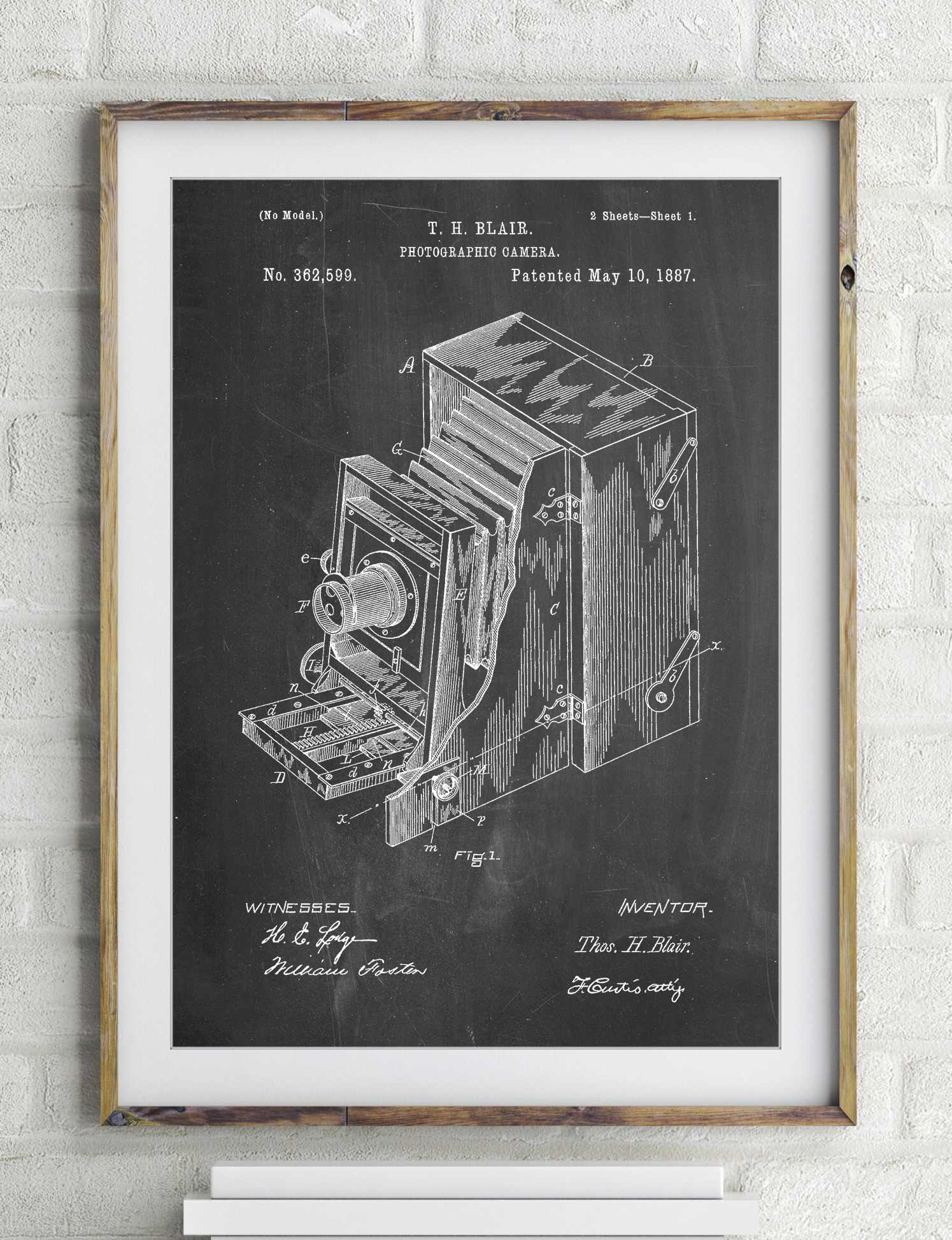 Lucidograph Camera Patent Poster