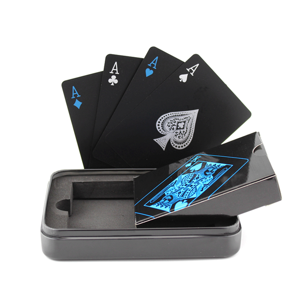Dice and cards - Black Playing Cards