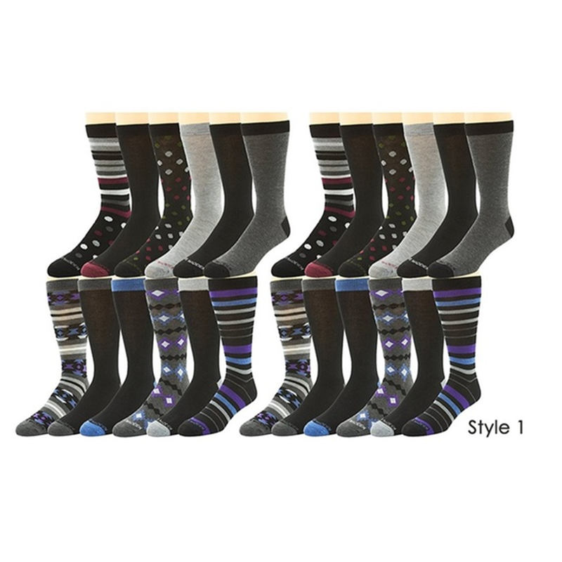24-Pairs  Steve Madden Men s Dress Socks