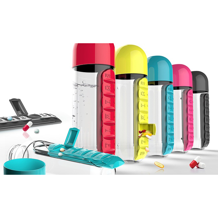 In Style Pill Organizer Water Bottle - Watch the Video 5870996