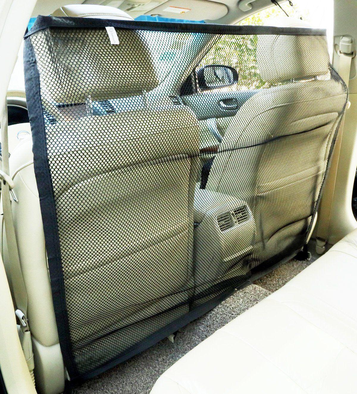 Zone Tech Vehicle Travel Pet Car Back Seat Net Mesh Barrier 47 x34