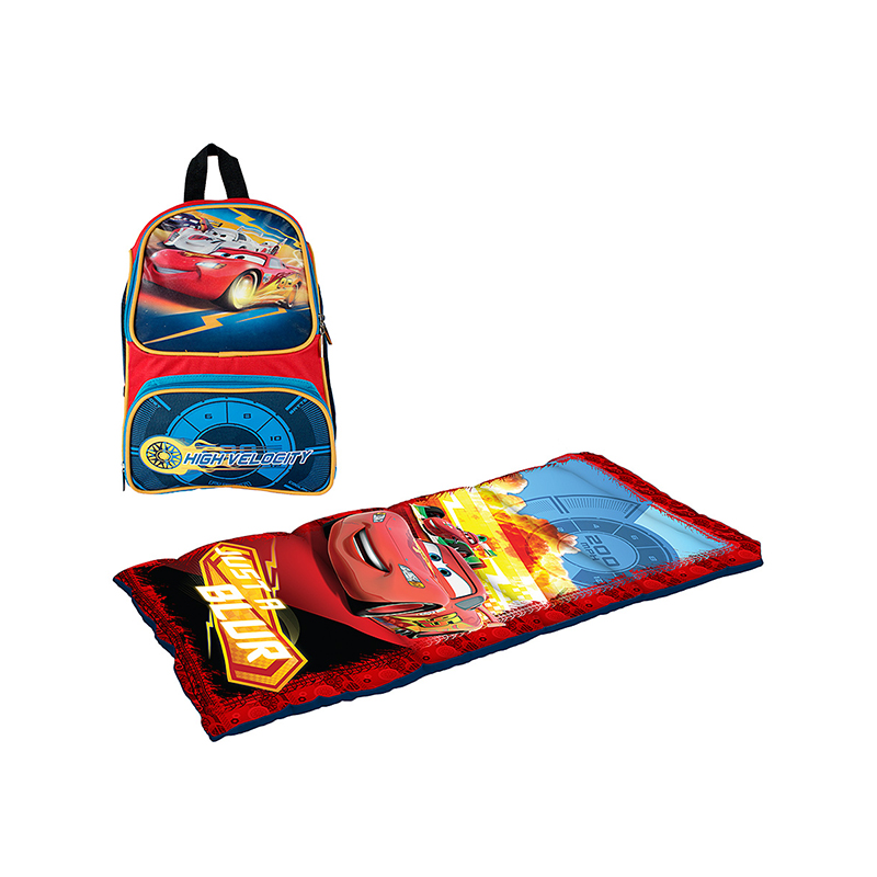 2-Piece Combo Backpack  amp  Sleeping Bag Set  Spider-Man or Cars 90d338b89da7