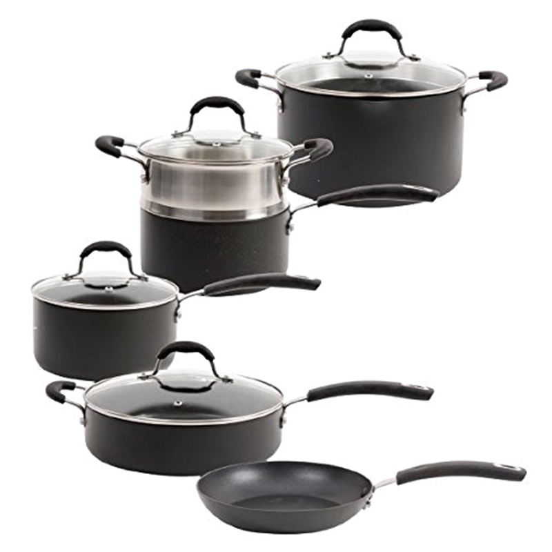 Oster Brawley 10 Piece Non-Stick Hard Anodized Aluminum Cookware Set b3954ec094a8
