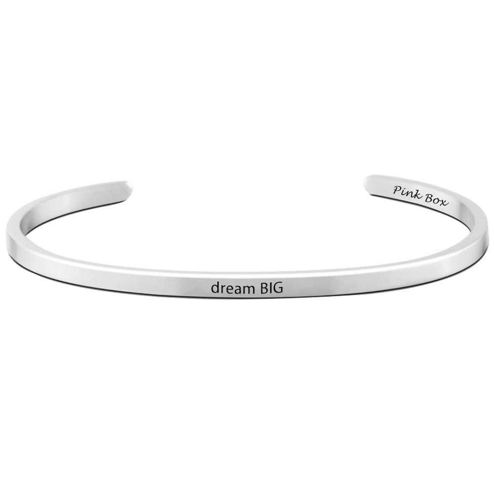 Dream BIG Inspirational Cuff Bracelet