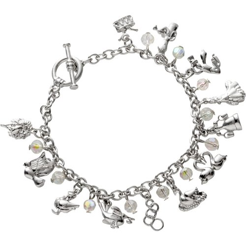 12 Days of Christmas  Charm Bracelet with Gift Box