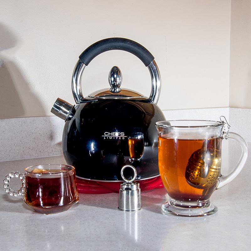 Chefs Limited Stainless Steel Whistling Tea Kettle, 2.75 Quart 11260039