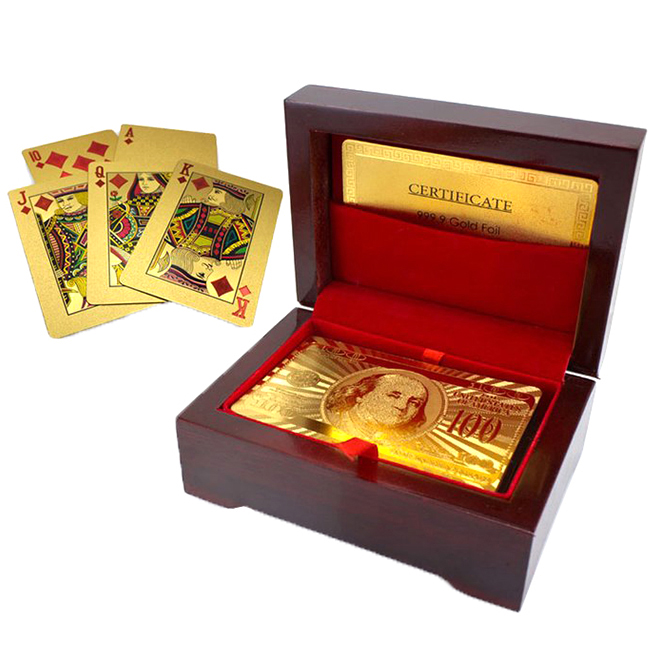 24kt Gold-Plated Playing Cards   Carry Case