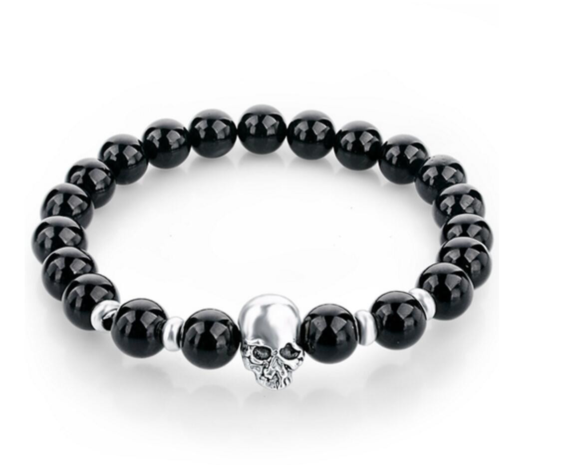 skull bracelet smooth skull bracelet bellechic 7671