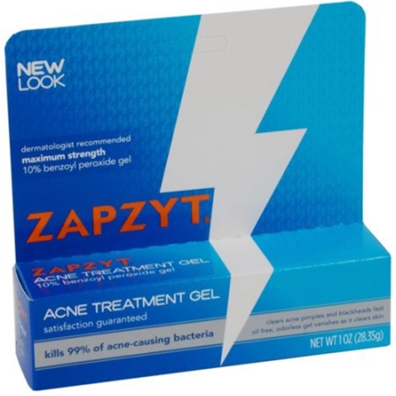 Zapzyt Acne Treatment Gel, 10% Benzoyl Peroxide Gel, 1 Oz