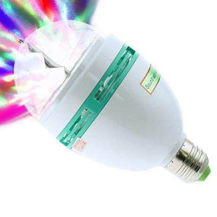 Auto RGB Sound Activated Full-Color Rotating LED Light 4854284