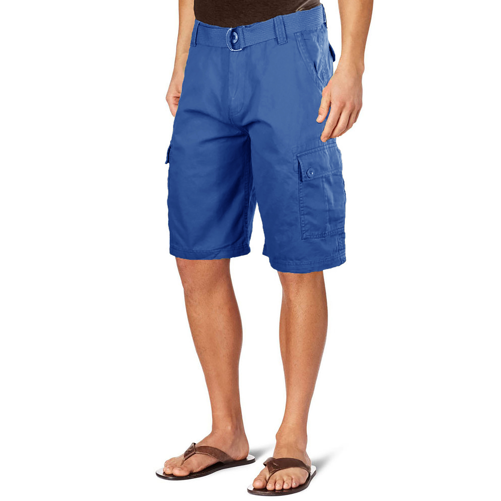 55dd10e1f2 2-Pack OTB Men's Belted Utility Cargo Shorts - Tanga