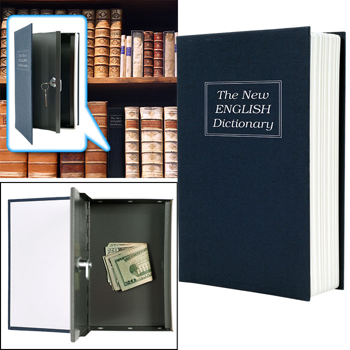 Dictionary Diversion Book Safe w  Key Lock - Metal