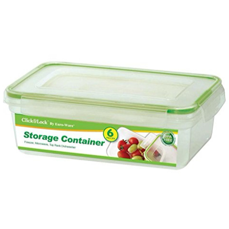 24-Piece  Click  amp  Lock Rectangular or Square Storage Containers with L