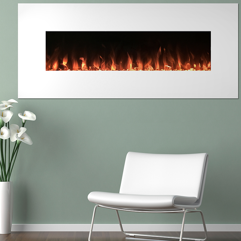 Northwest 50  White - Color Changing Fireplace