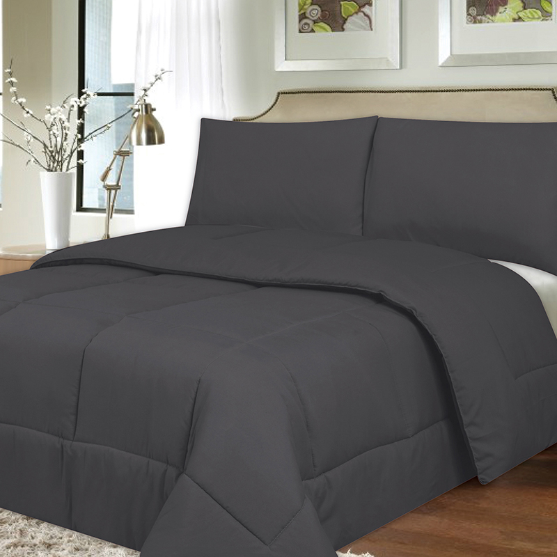 Plush down alternative reversible comforter tanga - Home design down alternative comforter ...