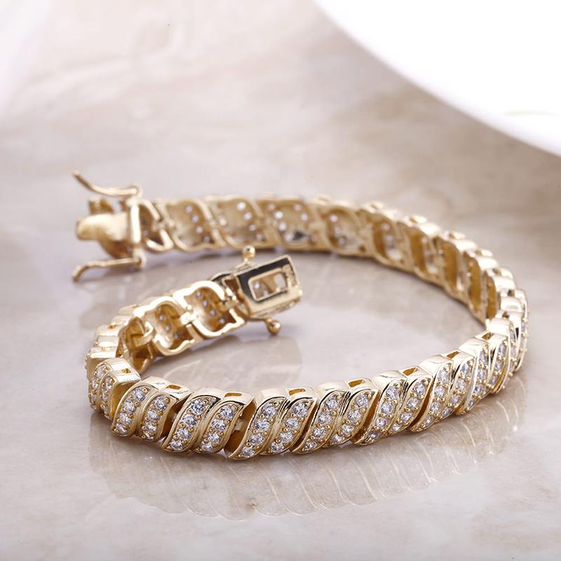 18kt Gold Plated Classic Tennis Bracelet