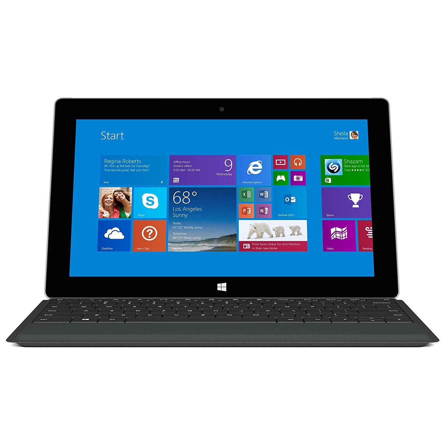 Microsoft 10.6  Surface 2 Tablet 64GB   Keyboard
