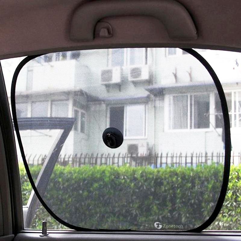 Zone Tech 2x Side Window Sunshade Sun Shade Car Mesh Ray Protector Shi