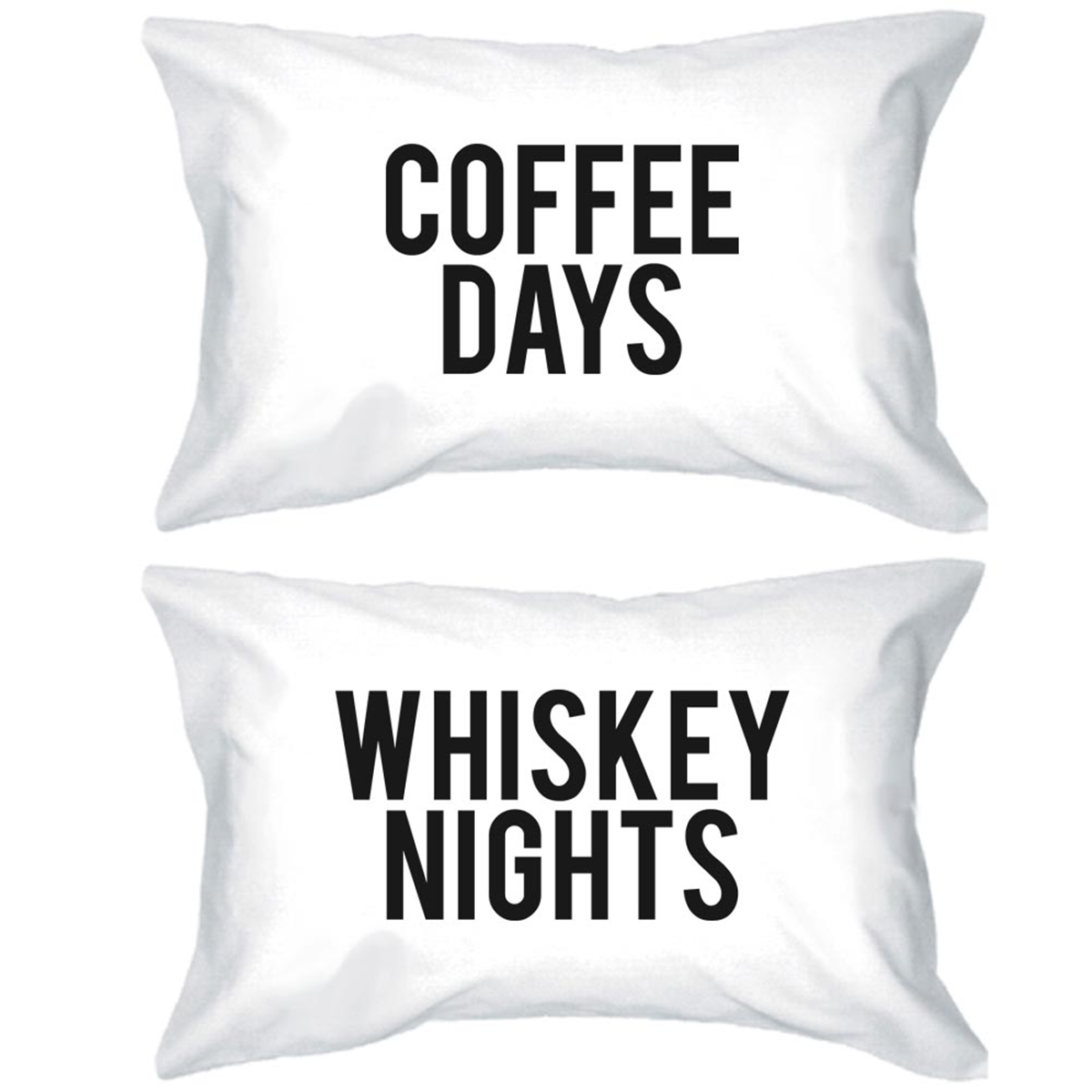 Coffee Days   Whiskey Nights Pillowcases