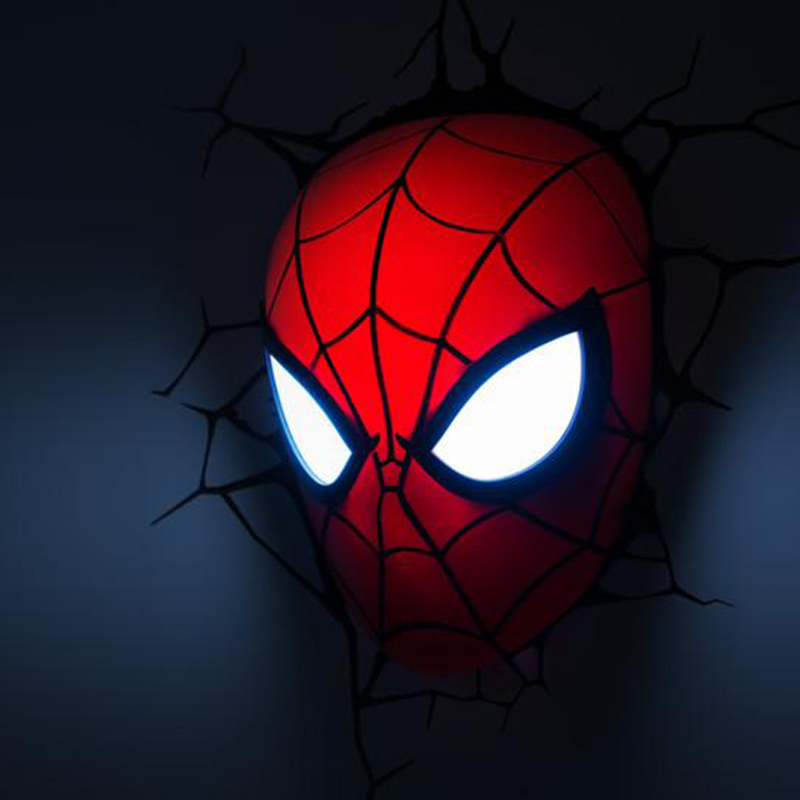 Marvel Spiderman Mask Wall Lights ad1a933dacc3