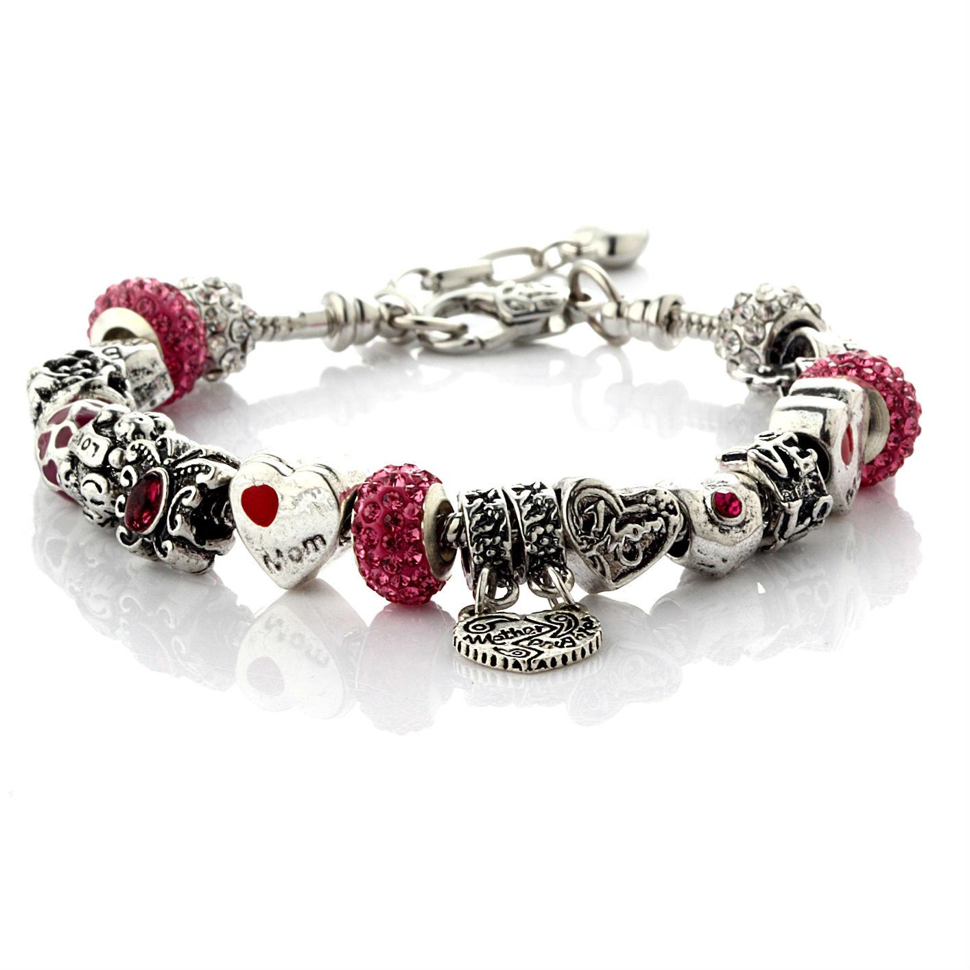 Mother Daughter Love Charm Bracelet