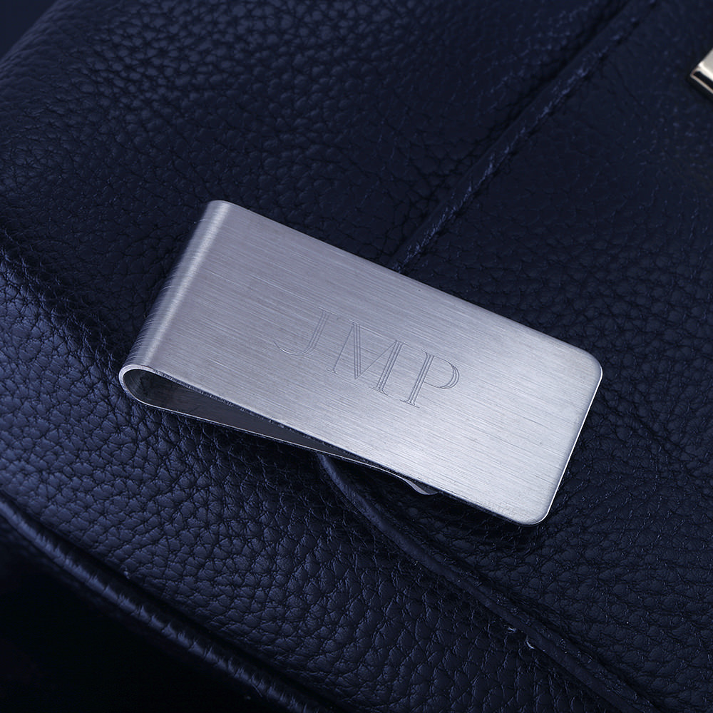 Personalized Mirror Polished Money Clip