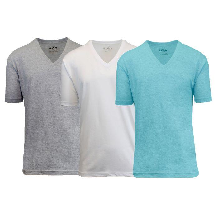 3 pack mens 100 egyptian cotton tagless v neck t shirts for 100 egyptian cotton shirts