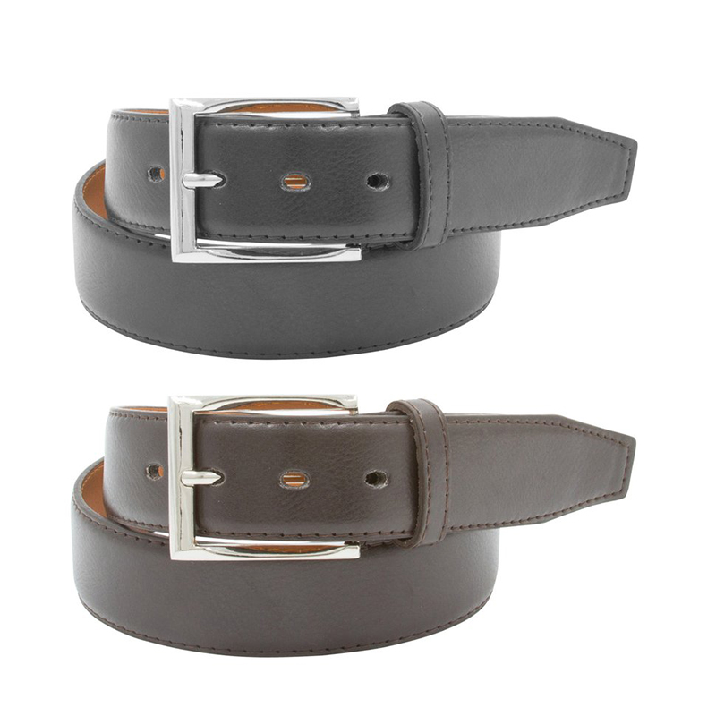 2-Pack Men s Black  amp  Brown Leather Belts 9303531