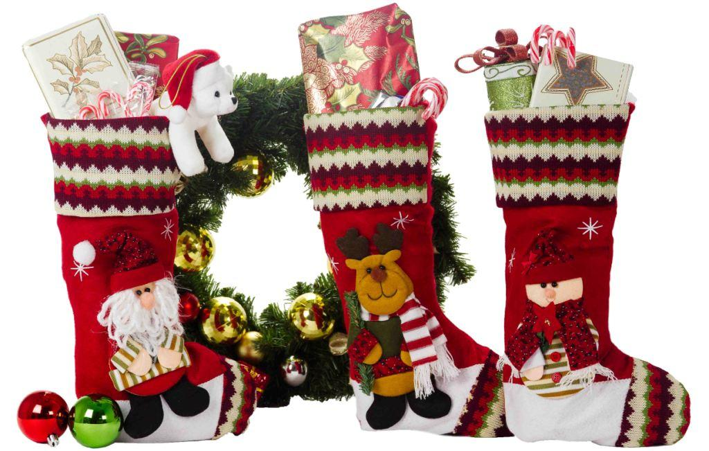 3 Pack Christmas Decorations 18 Cute Christmas Stockings