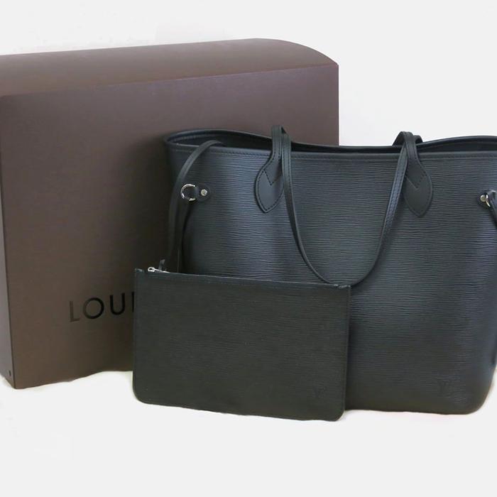 22019d5e8a2f Louis Vuitton Neverfull MM Tote Bag - Epi - Noir - Tanga