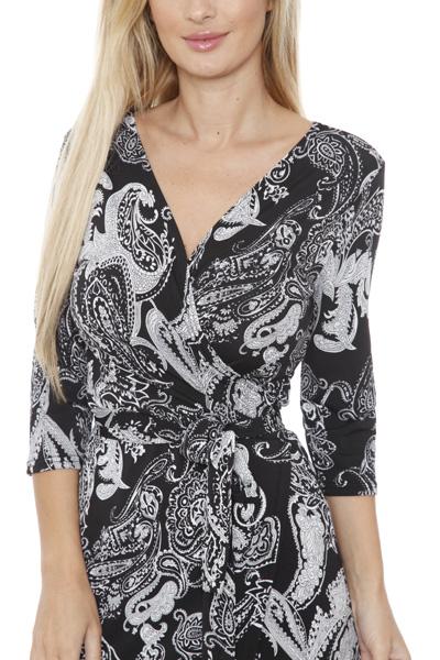 White Mark Women s  Mariah  Wrap Dress - Paisley