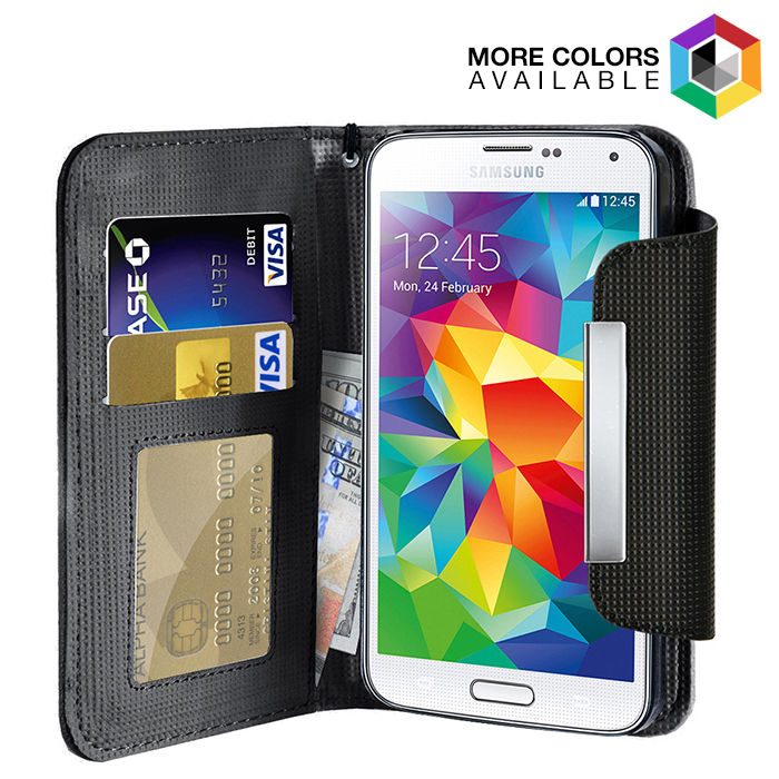 Leather Wallet Case With Clip for Samsung Galaxy S5 b77e179a15a3