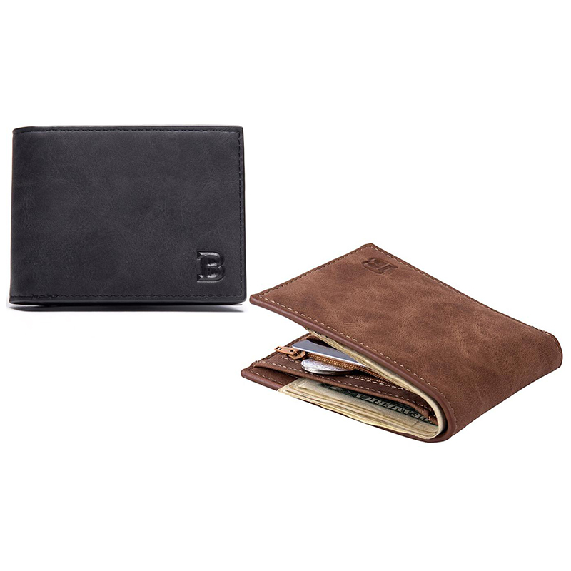 Baborry Men s Faux-Leather Fashion Wallet