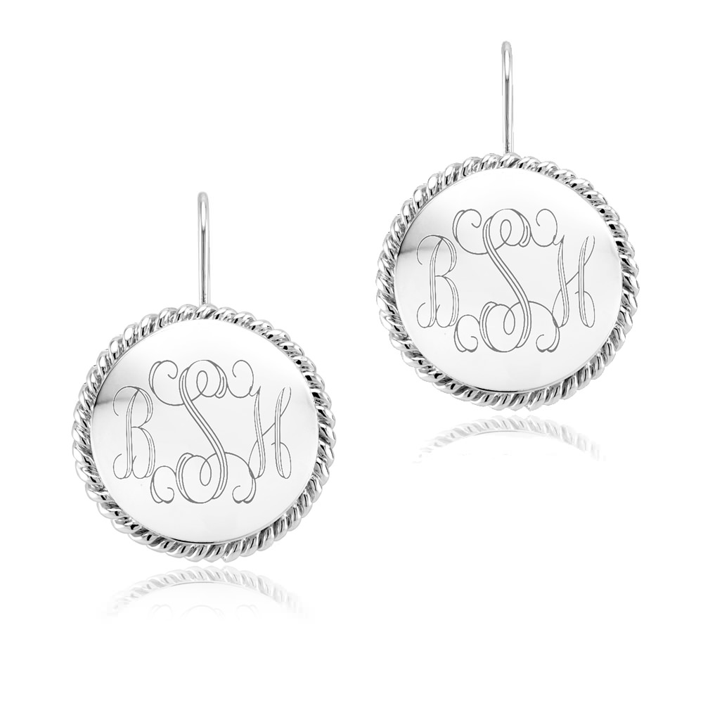 Personalized Braided Round Earrings with Free Gift!