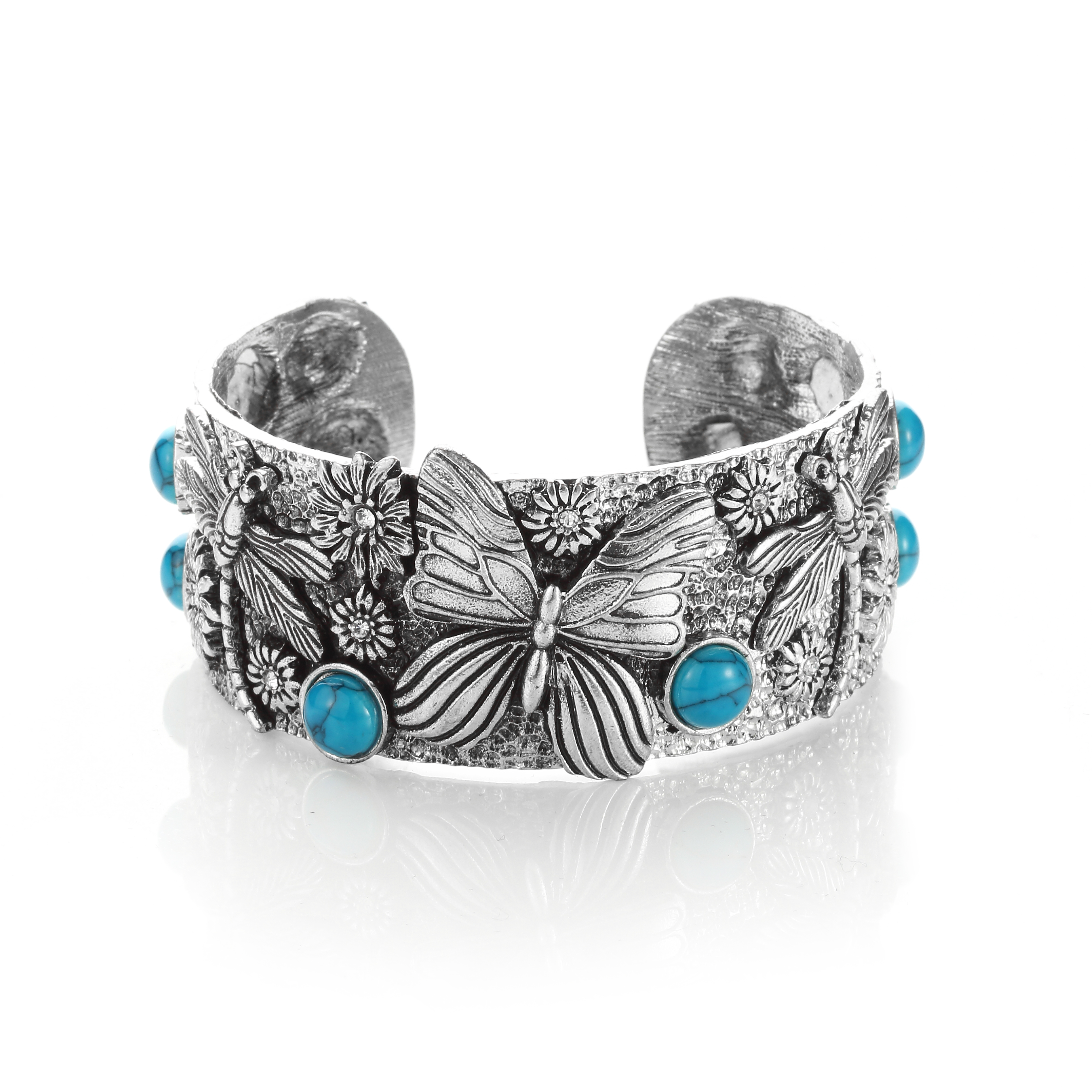 Imperial Carved Southwest Turquoise Cuff