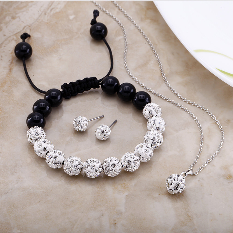 Clear Crystal 18kt White Gold Plated Jewelry Set