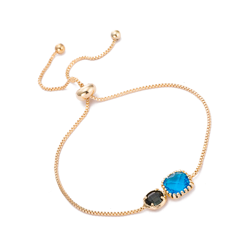 Gold Plated Duo Turquoise  amp  Citrine Gem Bracelet