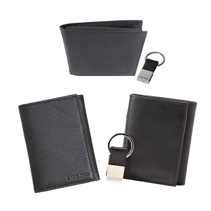 calvin klein leather wallet key fob set tanga. Black Bedroom Furniture Sets. Home Design Ideas