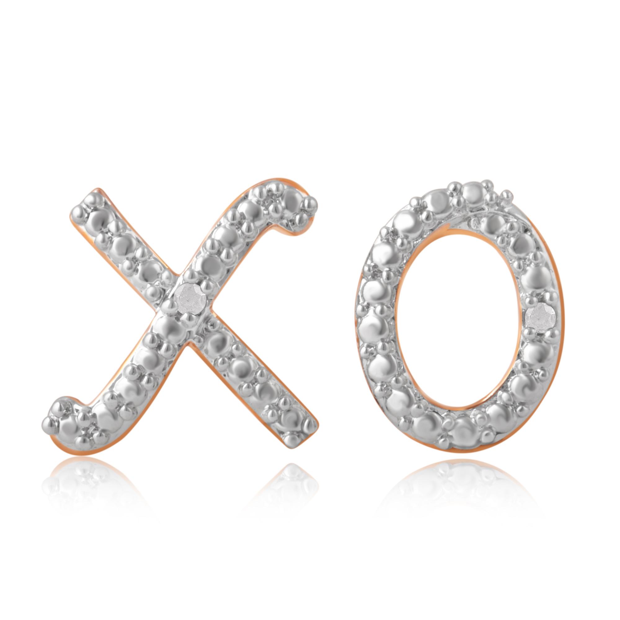 Diamond Accent X O Earrings - 3 Colors