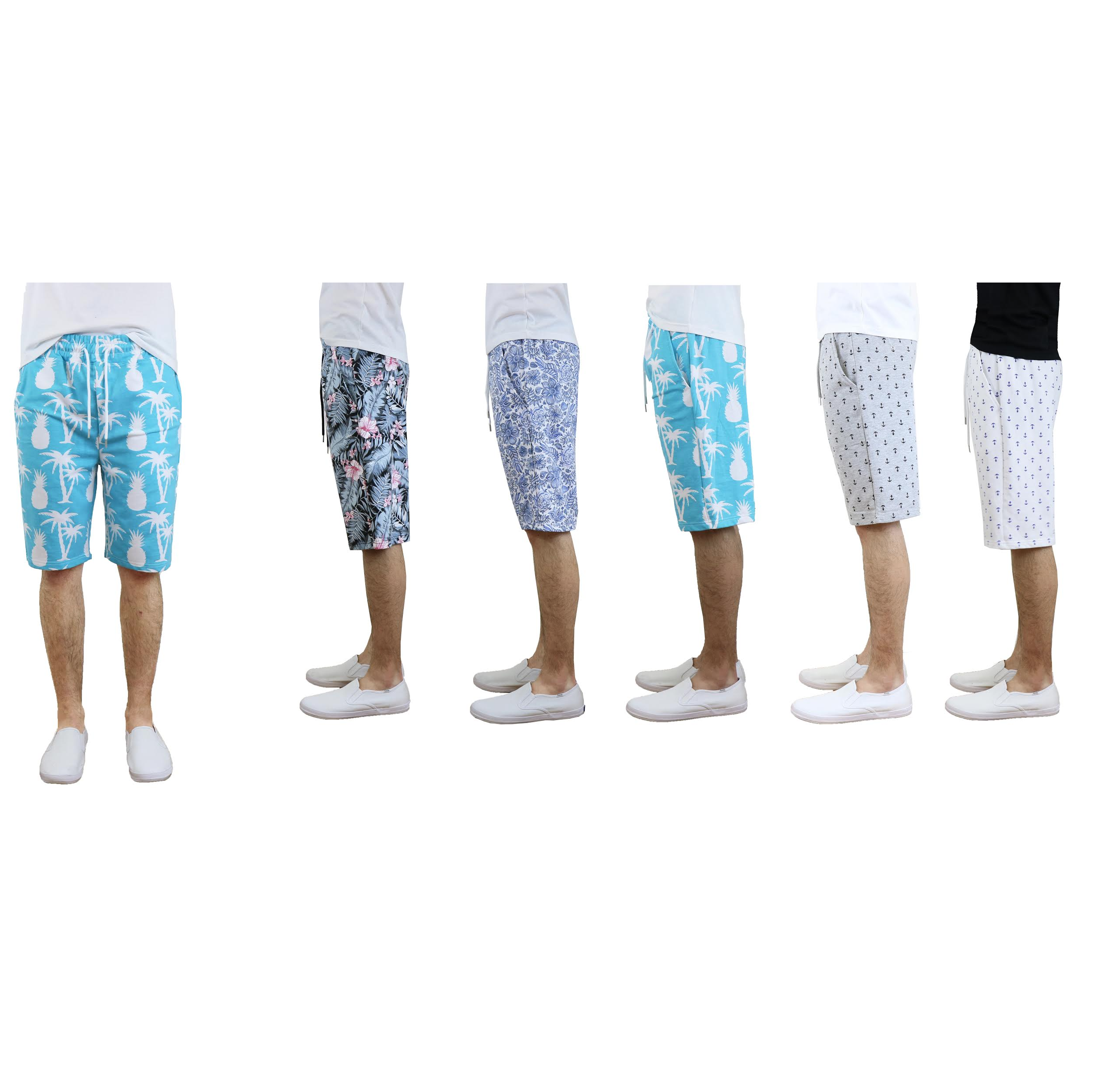 Men's Printed French Terry Shorts (S-2X)