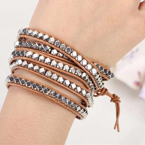 Desert Hex Wrap Bracelet