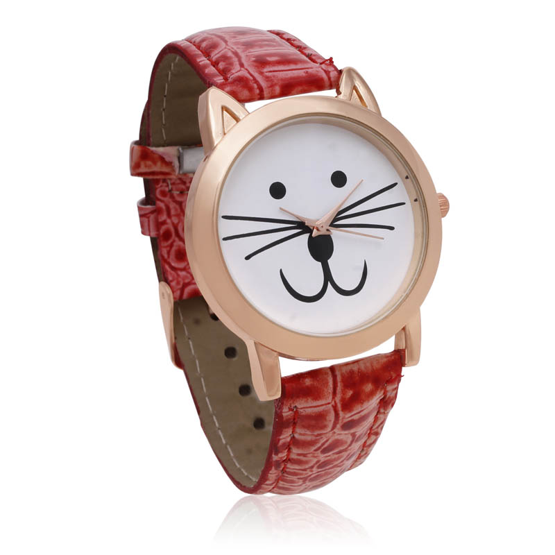 Octavia Purr Watch - Red