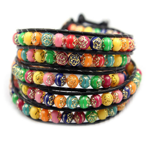 Rainbow Candy Wrap Bracelet