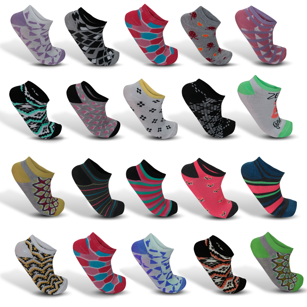 24-Pic Mystery Deal Women's Funky Fashion Ankle Socks